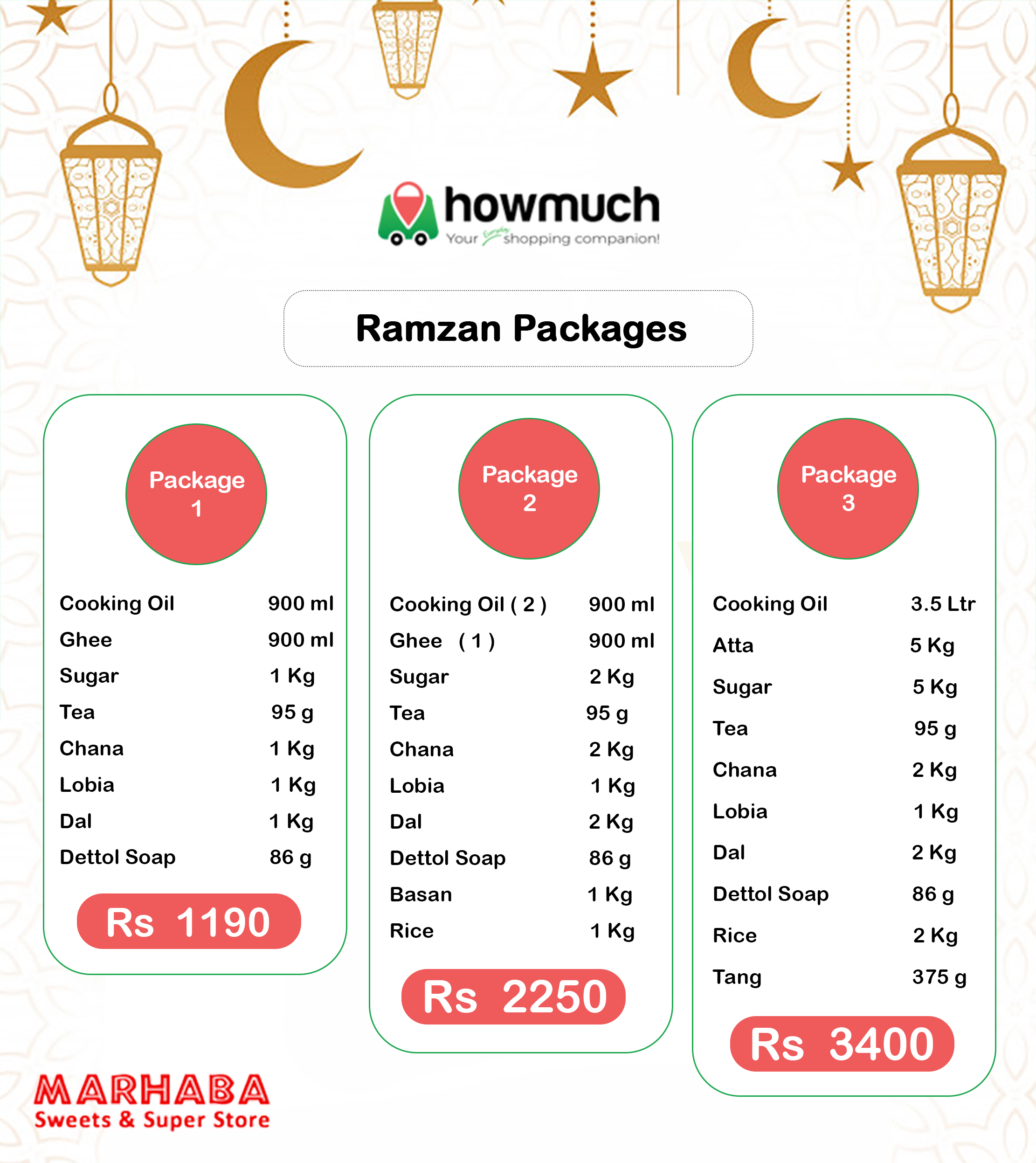 Share Your Blessings with Howmuch's Ramadan Packages